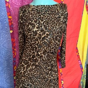 Joseph Ribkoff Leopard Size 4 Cocktail Dress